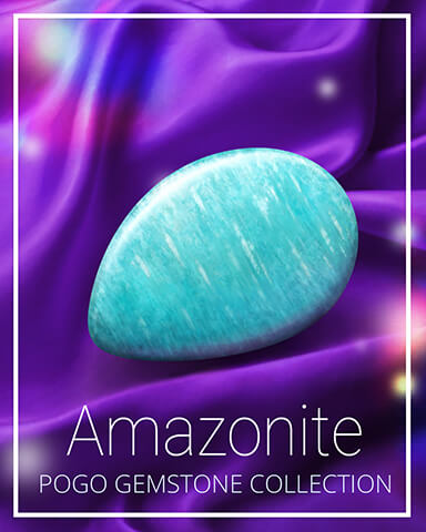 Amazonite Gemstone Badge - First Class Solitaire HD