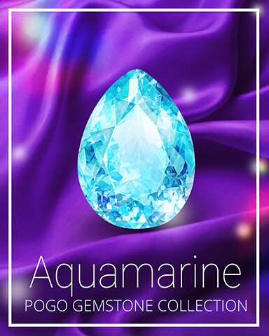 Aquamarine Gemstone Badge - Jigsaw Treasure Hunter HD