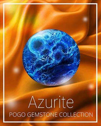 Azurite Gemstone Badge - Mahjong Sanctuary