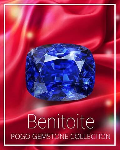 Benitoite Gemstone Badge - Tri-Peaks Solitaire HD