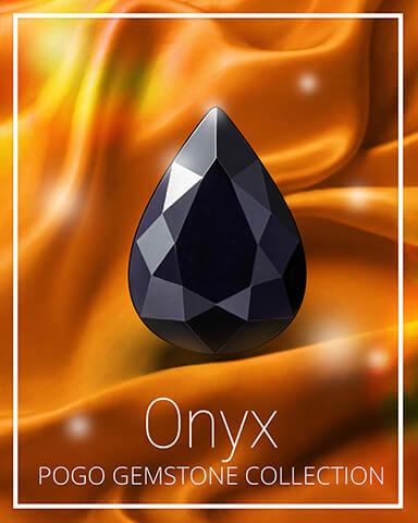 Onyx Gemstone Badge - Crossword Cove HD