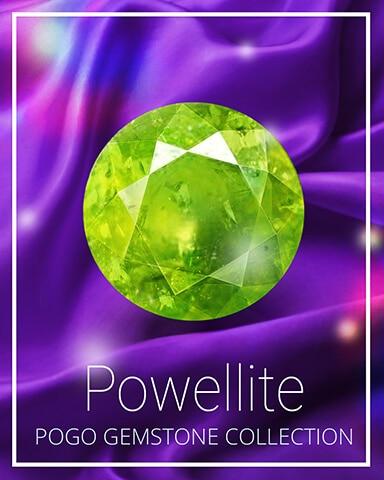 Powellite Gemstone Badge - World Class Solitaire HD