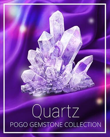 Quartz Gemstone Badge - Jewel Academy