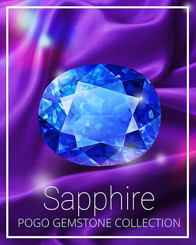 Sapphire Gemstone Badge - Sweet Tooth Town