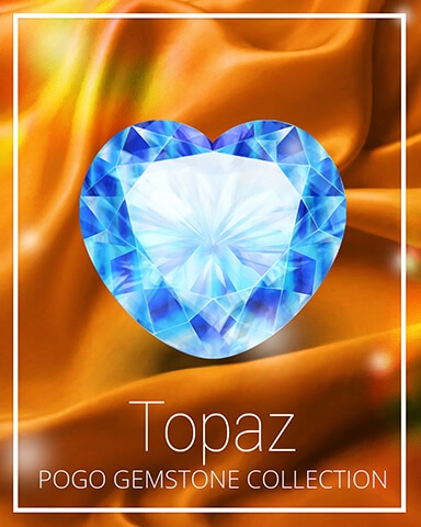 Topaz Gemstone Badge - Mahjong Sanctuary