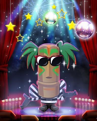 Pop Star Tiki Costume Badge - Jungle Gin HD