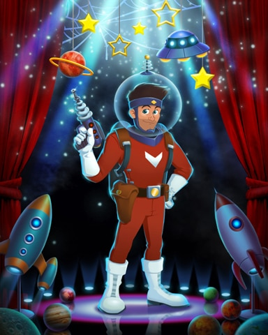 Tex Astro Costume Badge - Tri-Peaks Solitaire HD