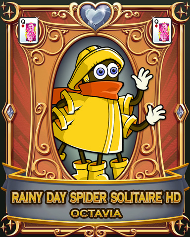 Rainy Day Spider Solitaire HD Badge - Rainy Day Spider Solitaire HD