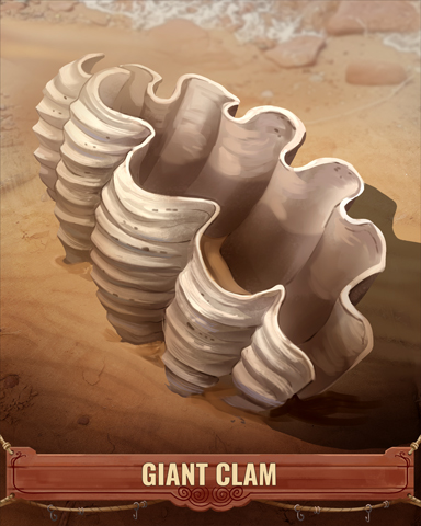 Giant Clam Shell Badge - Trizzle