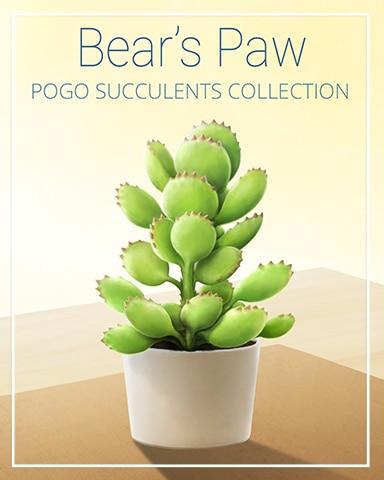 Bear's Paw Succulent Badge - Mahjong Garden HD