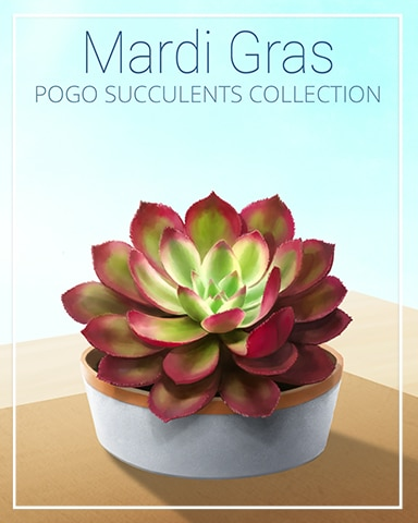 Mardi Gras Succulent Badge - Word Search Daily HD
