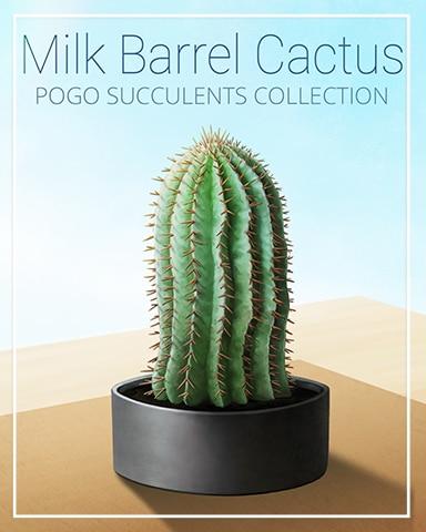 Milk Barrel Cactus Succulent Badge - Word Whomp HD