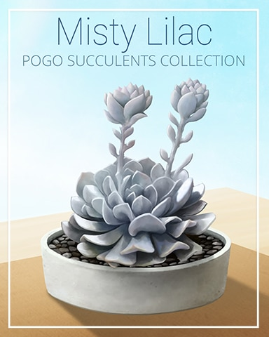 Misty Lilac Succulent Badge - World Class Solitaire HD