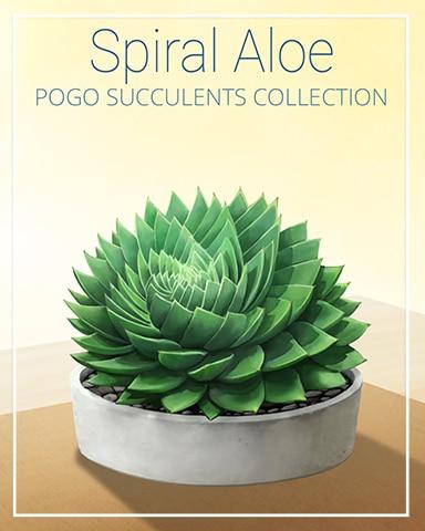 Spiral Aloe Succulent Badge - Mahjong Garden HD