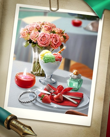 Romantic Dinner Badge - Claire Hart: Secret In The Shadows
