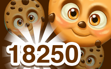 Brown Cookie 18250 Badge - Cookie Connect