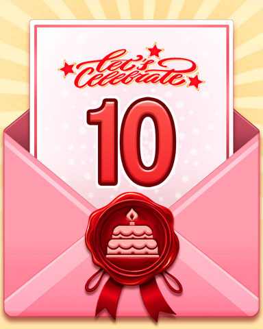 22nd Anniversary 10 Badge - Sweet Tooth Town
