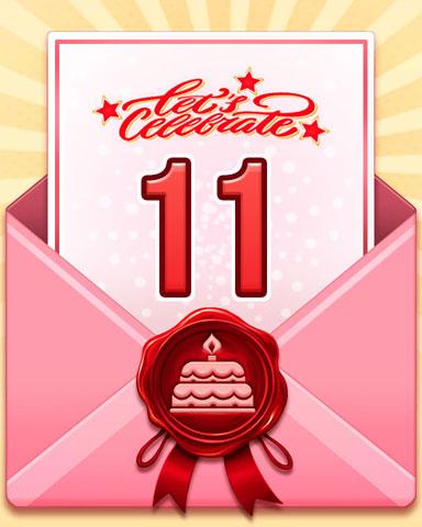 22nd Anniversary 11 Badge - Pogo Daily Sudoku