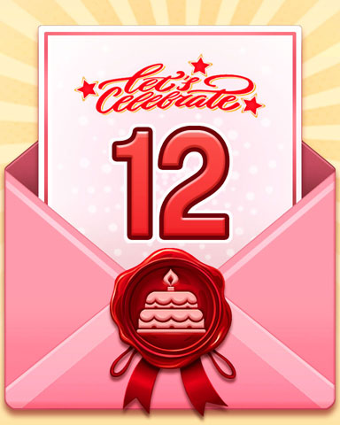 22nd Anniversary 12 Badge - World Class Solitaire HD