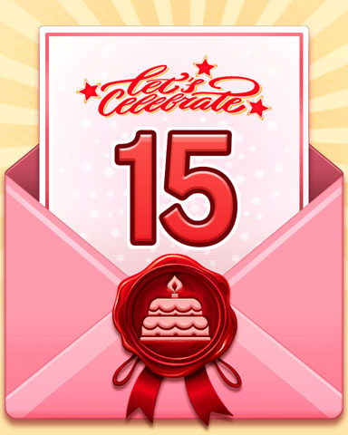 22nd Anniversary 15 Badge - First Class Solitaire HD