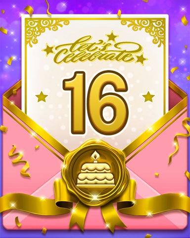 22nd Anniversary 16 Badge - Bejeweled Stars