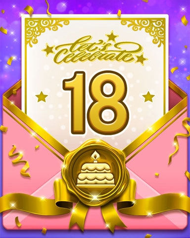 22nd Anniversary 18 Badge - Tri-Peaks Solitaire HD