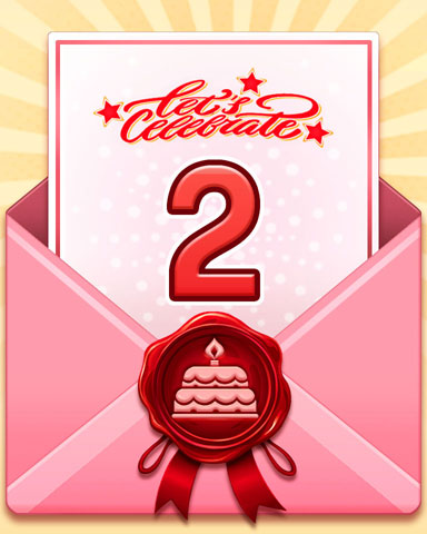 22nd Anniversary 2 Badge - Mahjong Sanctuary