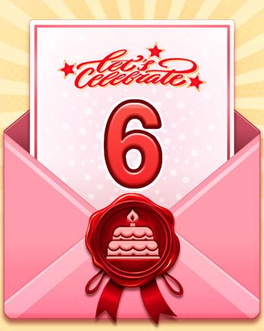 22nd Anniversary 6 Badge - Poppit! Bingo
