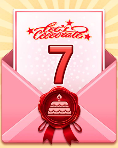 22nd Anniversary 7 Badge - Pogo™ Slots