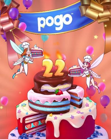 Pogo 22nd Anniversary Celebration Badge