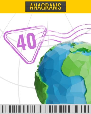 In-Flight Challenge 36 - 40 Badge - Anagrams