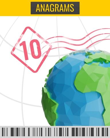 Descending Timed Challenge 10 Badge - Anagrams