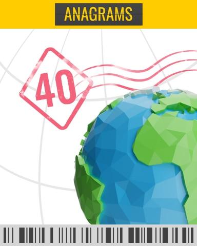 Descending Timed Challenge 40 Badge - Anagrams