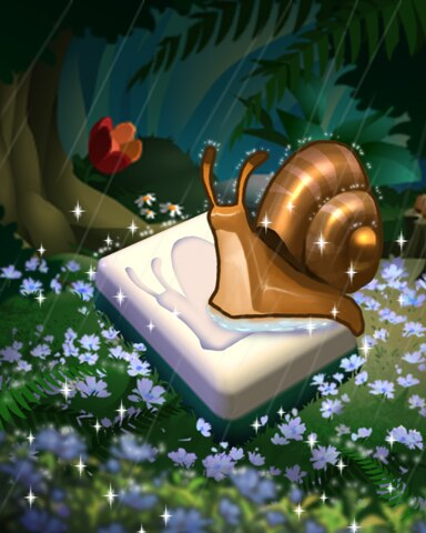 Snail Shower Badge - Mahjong Safari HD