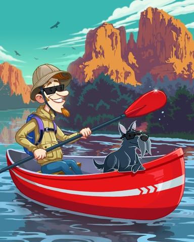 Outdoor Adventure Canoeing Badge - Canasta HD