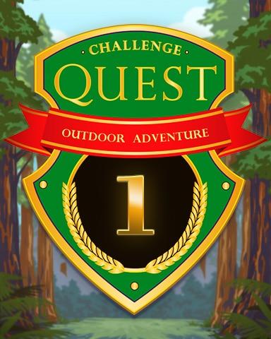 Outdoor Adventure - Week 1 Badge - Jet Set Solitaire
