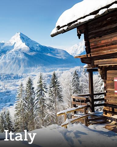 Italy Badge - Winter Wonderland