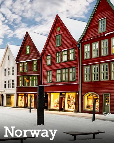 Norway Badge - Winter Wonderland