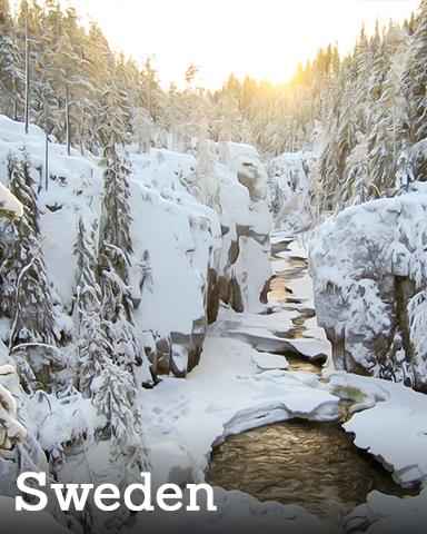 Sweden Badge - Winter Wonderland