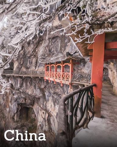 China Badge - Winter Wonderland