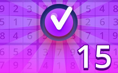 Expert 15 Badge - Pogo Daily Sudoku