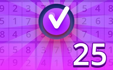 Expert 25 Badge - Pogo Daily Sudoku