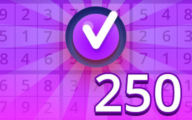 Expert 250 Badge - Pogo Daily Sudoku