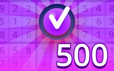 Expert 500 Badge - Pogo Daily Sudoku