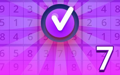 Expert 7 Badge - Pogo Daily Sudoku