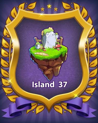 Island 37 Badge - Bejeweled Stars