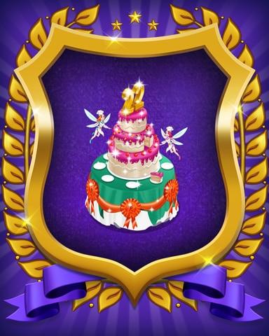 22nd Anniversary Cake Badge - Snowbird Solitaire