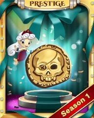 Prestige Pirate Bounty Badge - Solitaire Blitz