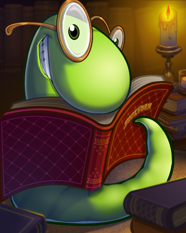 Reading For Dinner Badge - Bookworm HD