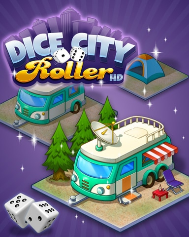 City Campground Badge - Dice City Roller HD